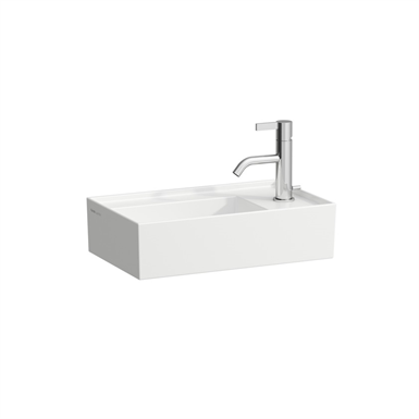 KARTELL BY LAUFEN Small washbasin, asymmetric, tap bank right 460 mm