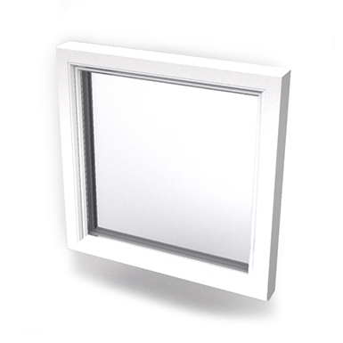 Intakt inward opening window 2+1 glass 1-light Sidehung