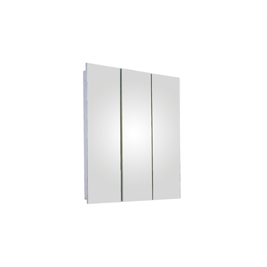 "Tri-View Series Polished Edge Medicine Cabinet - 24"" x 30"" Fully Recessed Mounted"