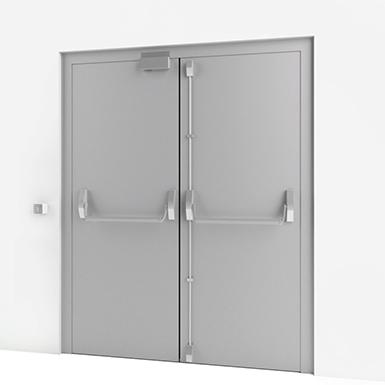 EMERGENCY EXIT DOOR W/ ELECTRIC LOCK (ASSA ABLOY ES)   Free