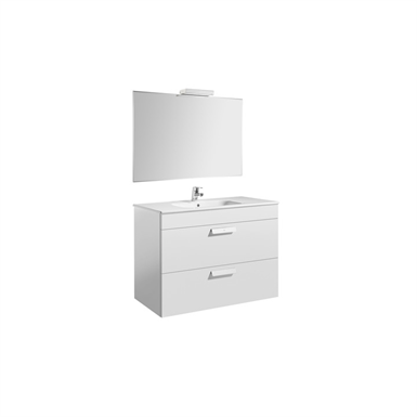 DEBBA 1000 Pack: Base unit w/ 2 drawers, basin, mirror and spotlight