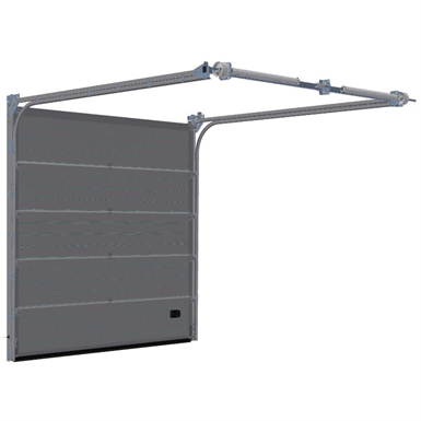 Sectional Overhead Door Low Headroom Lindab Free Bim Object For Revit Archicad Bimobject