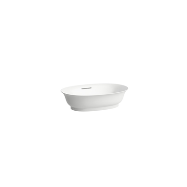 THE NEW CLASSIC Bowl washbasin with overflow channel, oval
