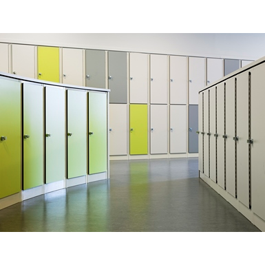 2-Compartment Locker Flat Steel Door W:400 D:500 H:1700