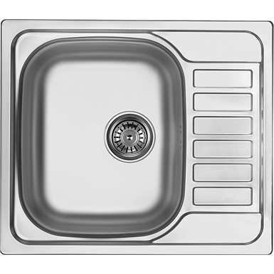 Soul 1-bowl sink with short drainer 580x500x170