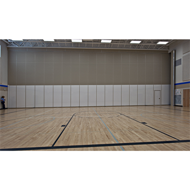 600 Series - 643E Continuously Hinged Panels Operable Partitions