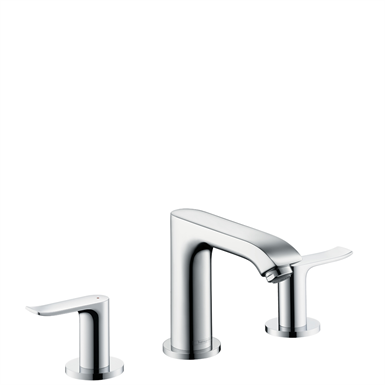 Metris 3-hole basin mixer 100 with pop-up waste set 31083007