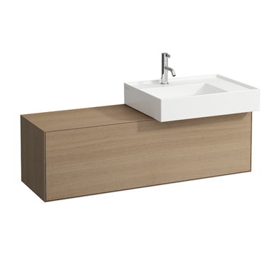 BOUTIQUE Vanity unit 1200 x 380 mm, with cut out right, with siphon