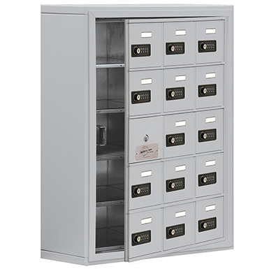 19100 Series Cell Phone Lockers-Surface Mounted-5 Door High Units-8 Inch Deep Compartments