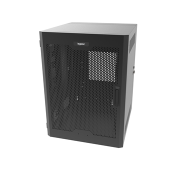 12RU, Swing-Out Wall-Mount Cabinet, Perforated Door