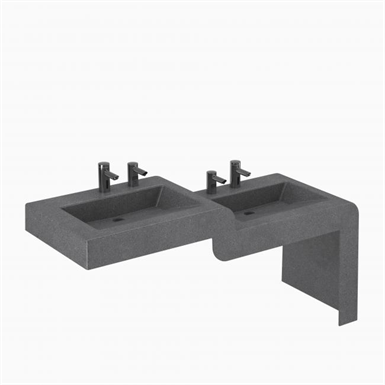 ELWF-82000 - SLOANSTONE® 2-STATION WALL-MOUNTED WATERFALL SINK