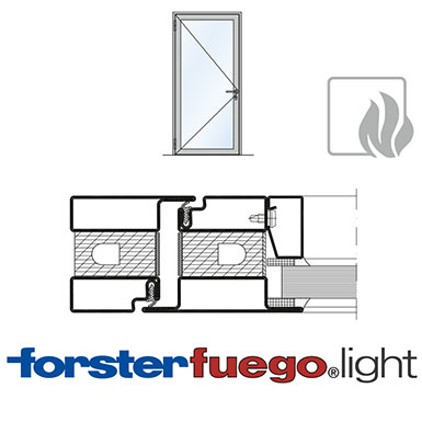 Door Forster fuego light EI30, single leaf