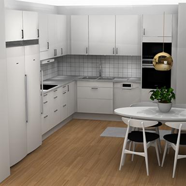 L Shaped Kitchen Marbodal Free Bim Object For Archicad Revit Bimobject