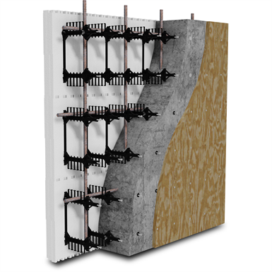 "BuildBlock Hardwall Concrete Faced (ICFs) 4"" Straight Forms"
