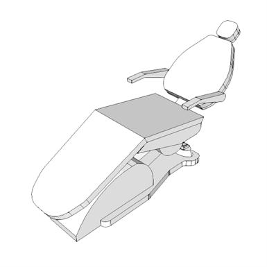 D3310 - CHAIR, PROCEDURE, DENTAL (SEPS2BIM) | Free BIM object for