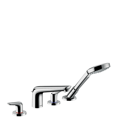 Novus 4-hole rim mounted bath mixer 71333000