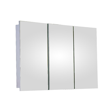 "Tri-View Series Polished Edge Medicine Cabinet - 48"" x 36"" Surface Mounted"