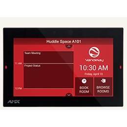 "RMBK-701 7"" AMX RoomBook Scheduling Touch Panel"