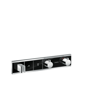 RainSelect Thermostat for concealed installation for 2 functions with integrated shower holder 15355600