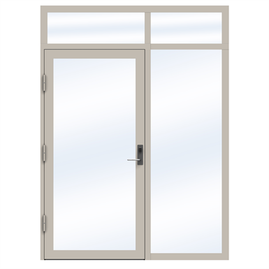Steel Door SD4220 P50 Single with Toplight and Sidelight on Right