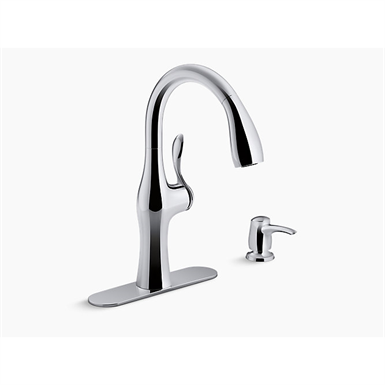 Alma™ pull-down kitchen faucet with soap/lotion dispenser