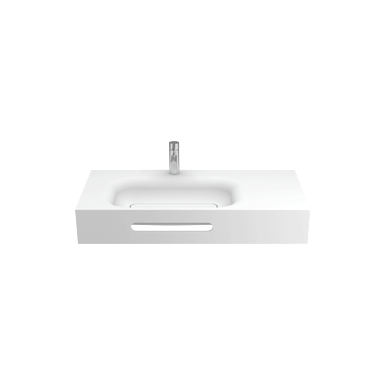 SMOOTH 1000 WALL-MOUNTED WASHBASIN (W/ LEFT TAP HOLE