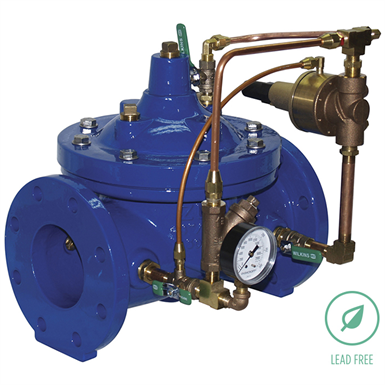 ZW205 PILOT OPERATED WATER PRESSURE RELIEF VALVE, LEAD-FREE