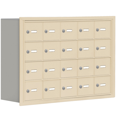 19000 Series Cell Phone Lockers-Recessed Mounted-4 Door High Units-8 Inch Deep Compartments