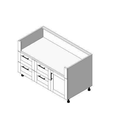OGBX 2 Drawer, 1 Door Grill Base