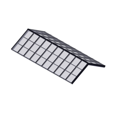 STRUCTURAL RIDGE SKYLIGHT – GLASS (Wasco-Skylights) | Free BIM