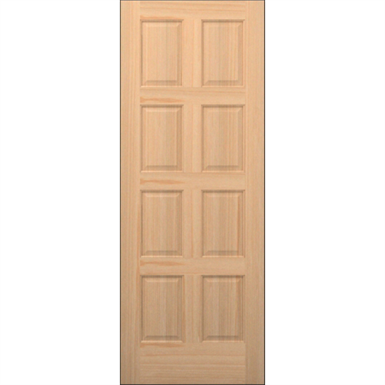 8 Panel Wood Door Interior Commercial Residential With Fire