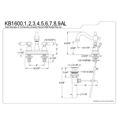 4 Inch Centerset Lavatory Faucet