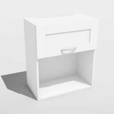 Wall Cabinet For Integrated Microwave
