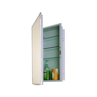 "Accessible Series Stainless Steel Frame Medicine Cabinet - 16"" x 26"" Recessed Mounted"