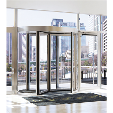 3-wing revolving door 1.8 to 2,7 m ∅