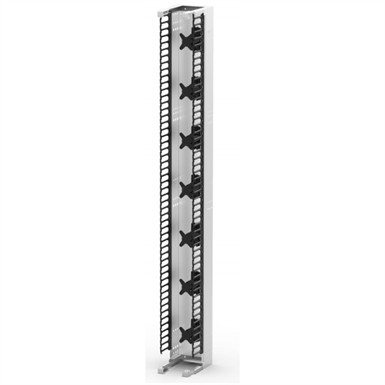 "Single Vertical Jumper Manager, No Pass Through, 8', 12"" Width"