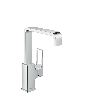 Metropol Single lever basin mixer 230 with loop handle and push-open waste set 74511000