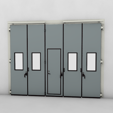 ASSA ABLOY FD2250P Folding Door (3+2)(2+3) Manual DLW 3190-6300mm DLH 1850-6000mm