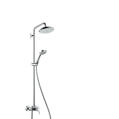 Croma Showerpipe 220 1jet with single lever mixer 27222000