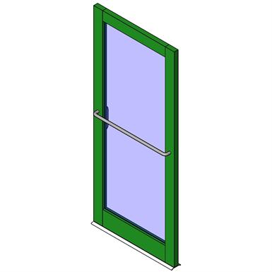 SERIES D300 SWING DOOR - SINGLE DOORS NO MIDRAIL CURTAINWALL