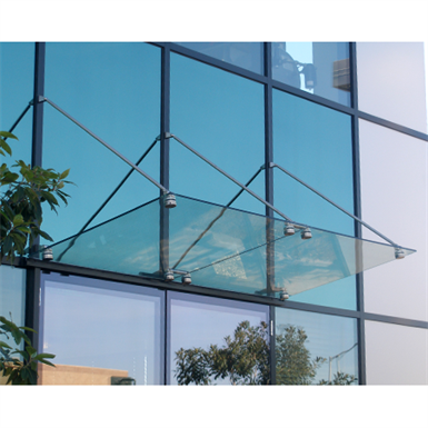 Glass Awning Support System