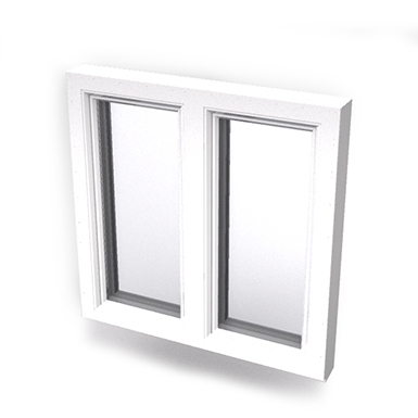 Intakt inward opening window 2+1 glass 2-light with mullion Sidehung or Kippdreh with Sidehung or Kippdreh