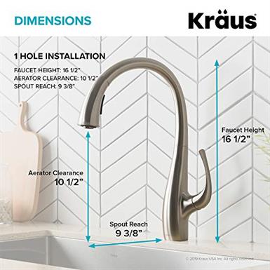 Kraus Kpf 1675sfs Ansel Dual Function Pull Down Kitchen Faucet Kraus Free Bim Object Bimobject