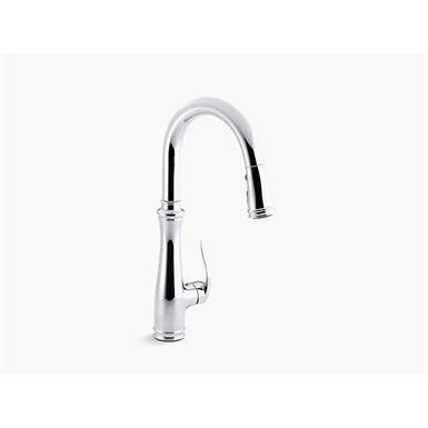 Bellera Single Hole Or Three Hole Kitchen Sink Faucet With Pull Down 16 3 4 Spout And Right Hand Lever Handle Docknetik Magnetic Docking System And A 3 Function Sprayhead Featuring Sweep Spray Kohler Free Bim Object For