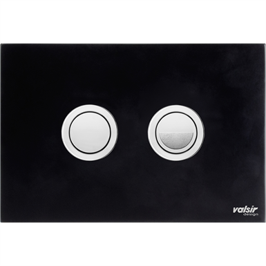 PUSH PLATES WC - BLACK&WHITE