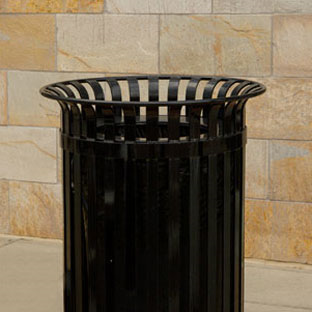 CityView Vertical Strap Trash Receptacles