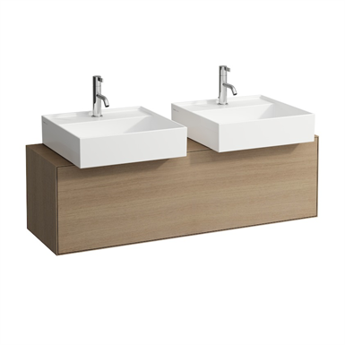 BOUTIQUE Vanity unit 1200 x 380 mm, with cut out left and right, with siphon