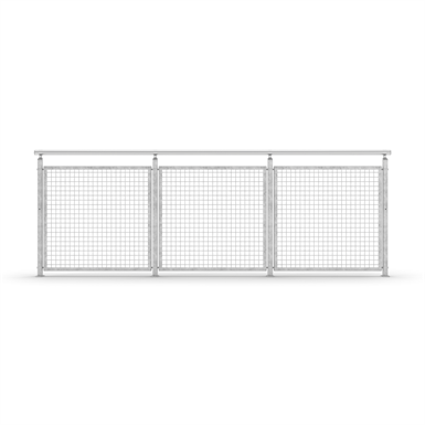 Sectional Railing Mesh Top mounted