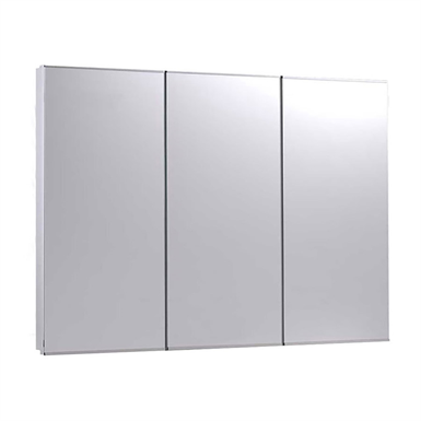 "Tri-View Series Stainless Steel Frame Medicine Cabinet - 36"" x 30"" Fully Recessed Mounted"