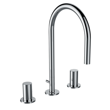 KARTELL BY LAUFEN 3-hole basin mixer, without pop-up waste